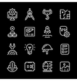 Set line icons of engineering vector image vector image