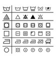 set of the laundry instruction of icons vector image