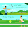 Sport People Flat Banners vector image vector image