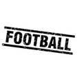 square grunge black football stamp vector image