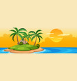 summer island at sunset vector image vector image