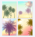 summer time natural palm banners or posters flyer vector image