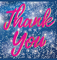 thank you text sign isolated on gradient vector image vector image