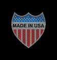 usa dimond shield vector image
