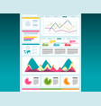 web design dashboard template creative layout vector image