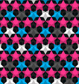 bright star seamless pattern vector image