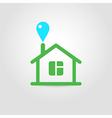 Eco house icon 02 vector image