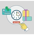 online shopping rapid order processing vector image