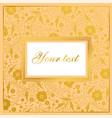 floral card design garden flower golden poppy vector image