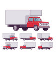 red truck set vector image