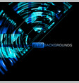 abstract blue neon colors on a black vector image vector image