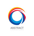 abstract colored ring - logo template vector image vector image