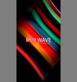 Abstract wave lines fluid rainbow style color