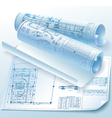 Architectural drawings vector image vector image