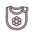 baby bib icon vector image vector image