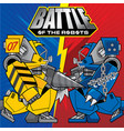 background with the of battles robots theme vector image vector image