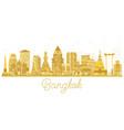 bangkok city skyline golden silhouette vector image vector image