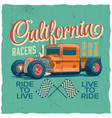 california racers poster vector image vector image