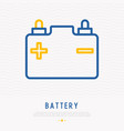 car battery thin line icon vector image