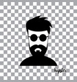 character cartoon hipster style vector image vector image