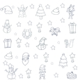 Collection christmas set of doodles vector image