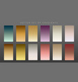 collection of premium vintage gradients vector image