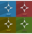 Color set side of the World compass Flat modern vector image