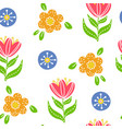 colorful simple floral seamless pattern vector image vector image