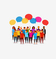 colorful social network people with speech bubbles vector image