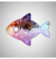 Creative concept fish icon isolated on vector image vector image