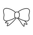 cute ribbon cartoon vector image