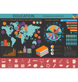 Education school infographics Set elements for vector image