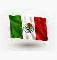 flag mexico vector image vector image
