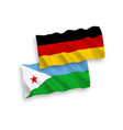 flags republic djibouti and germany on a vector image