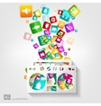 Full battery icon Application buttonSocial media vector image vector image