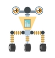futuristic robot circuit electrical vector image