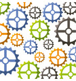 gear wheel background vector image vector image