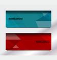 geometric web banner vector image vector image