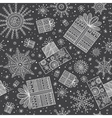 gifts christmas seamless pattern with snowflakes vector image vector image