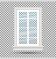 glass window isolated on transparent background vector image vector image