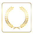 Gold laurel wreath Symbol victory vector image vector image