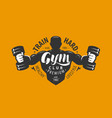 gym club logo or emblem sport bodybuilding vector image vector image
