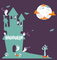 halloween party celebration holiday brochure vector image vector image