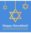 Hanukkah card template vector image vector image