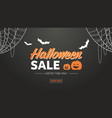 happy halloween sale promotion template holiday vector image