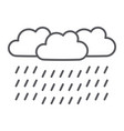 heavy rain thin line icon weather and meteorology vector image vector image