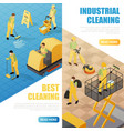 industrial cleaning banners vector image vector image