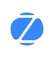 letter z logo modern blue font icon vector image vector image