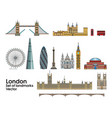 london colorful line art 1 vector image vector image