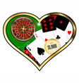 love gambling vector image